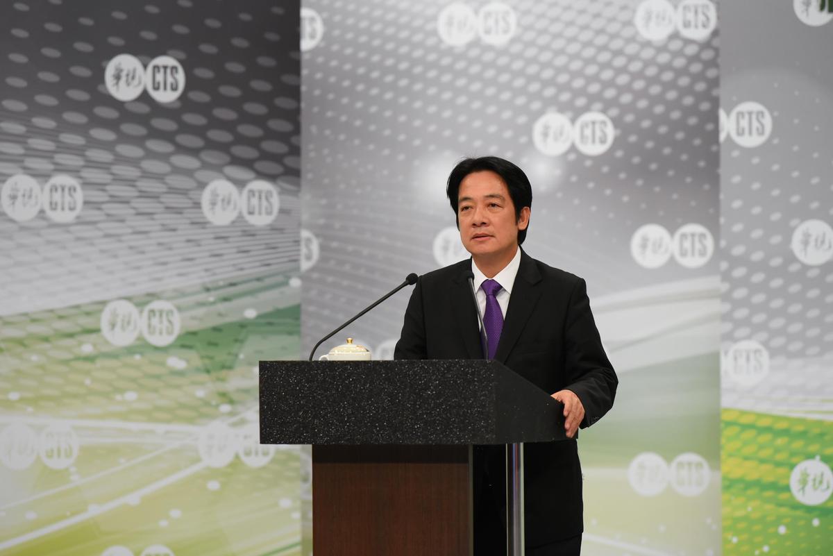 賴清德拋出守護台灣、團結台灣、憲政改革以及壯大台灣等4大目標。(民進黨提供)