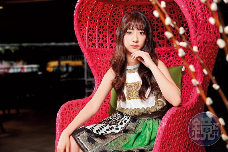 輔大校花林蔚喬當了幾年廣告模特兒,畢業後她決定好好拚演藝事業。