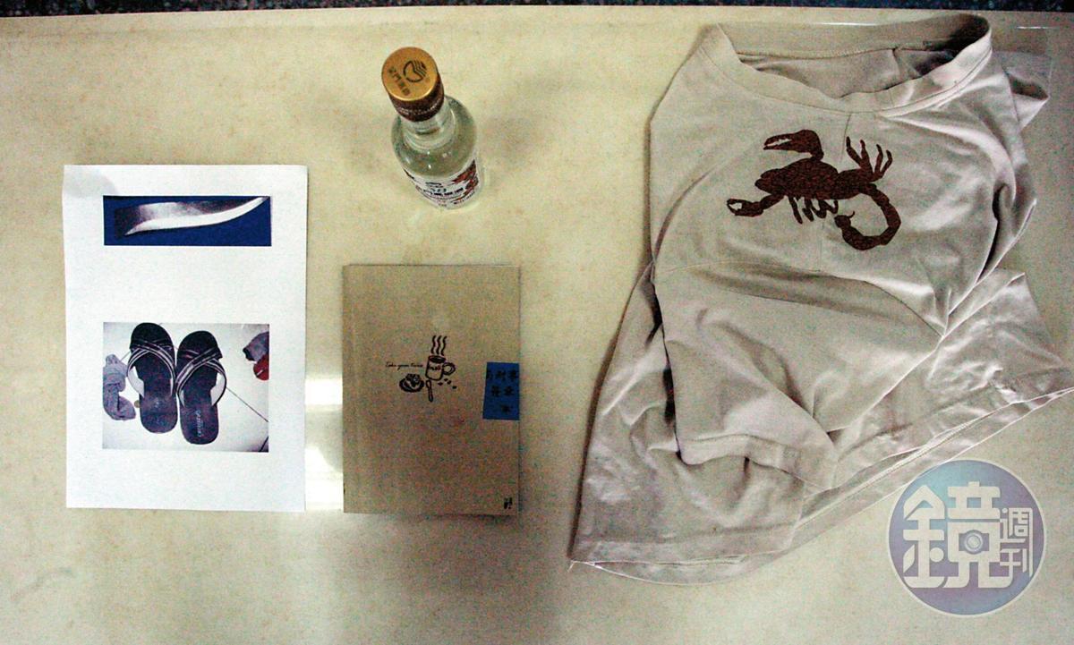 警方最後找到林昆翰的「綁架日記」、隨身碟、高粱酒等證物。