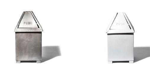 TABLE TOP DUSTBIN Natural / White 復古工業風桌用廢紙桶 仿舊銀/白色 售價:$1,490