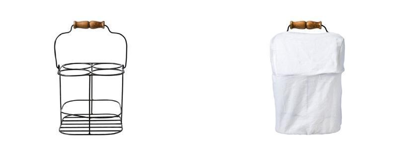 WINE HOLDER 4-Bottle Stand 金屬鋼製直立式酒架(附蓋套) 售價:$1,750
