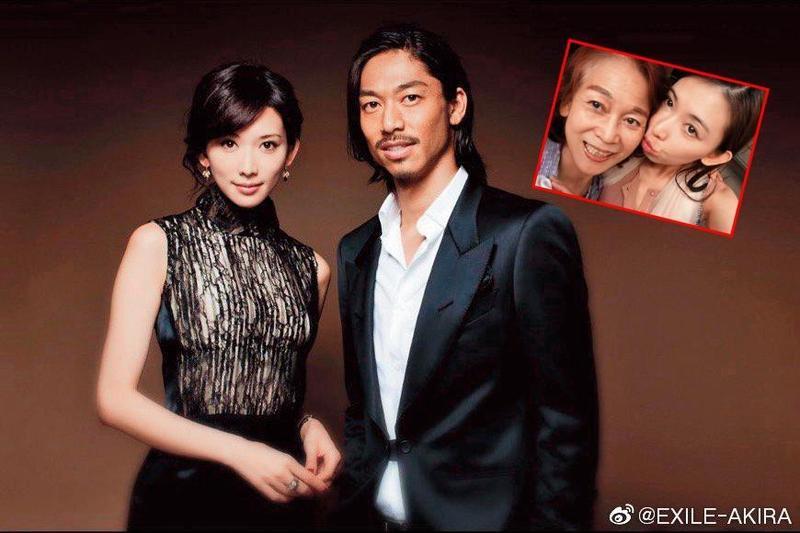 AKIRA(右)上週po出和林志玲的合照宣告結婚,據悉當天他們先在台北登記後隨即飛往日本登記,再馬上飛往美國度蜜月。(翻攝自Akira微博)