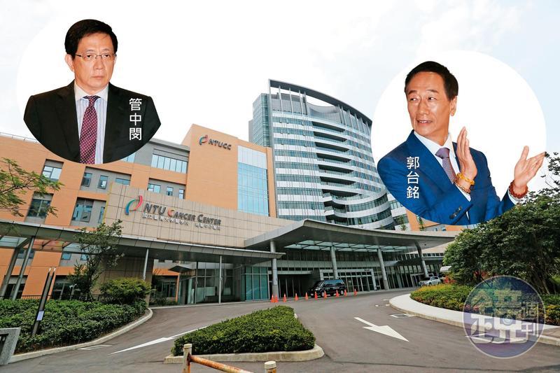 為了避免台大癌醫(圖)陷入經營危機,台大校長管中閔上個月與郭台銘會談,但最後仍沒結果。
