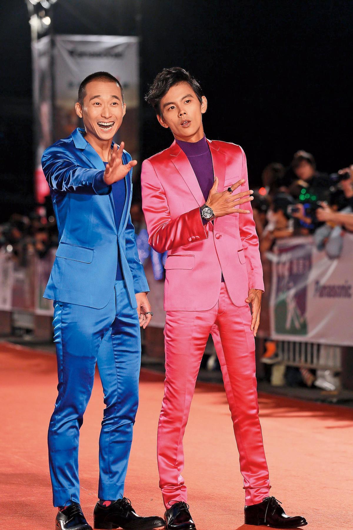 浩子(左)跟阿翔(右)合組的「浩角翔起」,是台灣的諧星天團,小甜甜為了澄清阿翔與謝忻之間「有鬼」的傳言,甚至還爆料謝忻其實對浩子比較有意思。(東方IC)