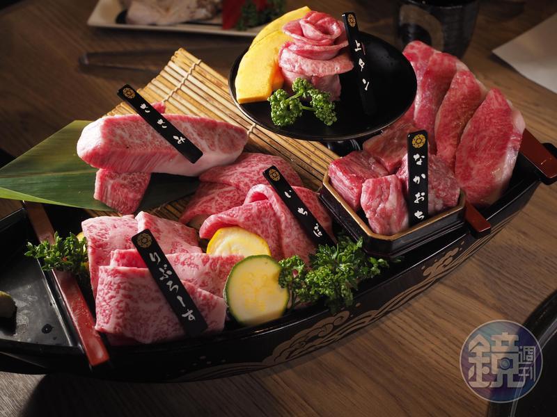日本燒肉品牌「平城苑東京燒肉」推出升級版「流星三人套餐」。(4,280元/套)