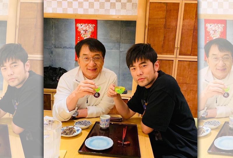周杰倫12日貼出與成龍喝下午茶的合照。(翻攝自周杰倫IG)