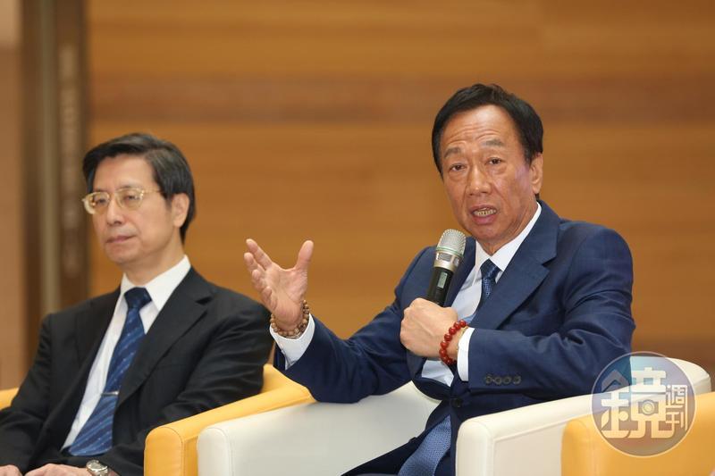 郭台銘表示,發生在香港的反送中衝突持續升高,堅定表示香港實施的一國兩制是失敗的。