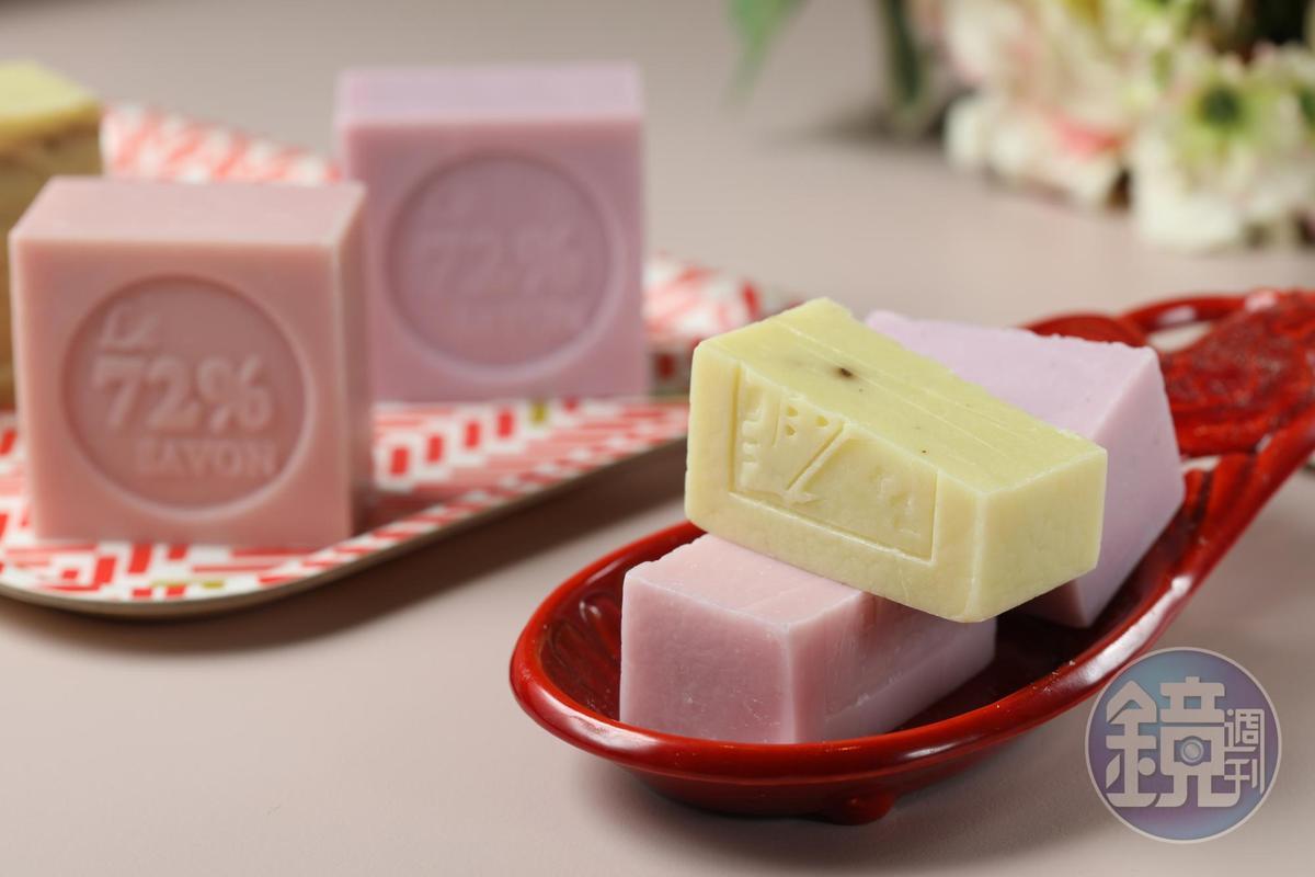 雪文洋行創辦人Ivy把旅行回憶化為一塊塊獨有香氣的「豐郁香氛72%馬賽皂」。(280元/個)