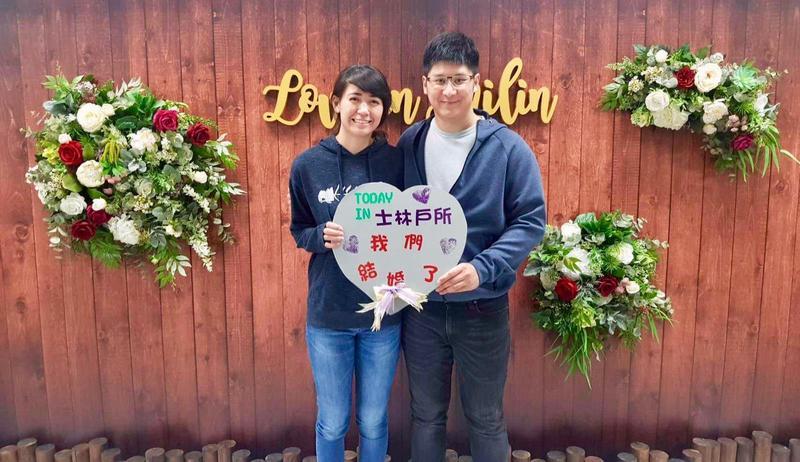 辜仲諒的長子Jeffrey和女朋友愛情長跑多年,上月登記結婚。(翻攝自辜昱銓臉書)