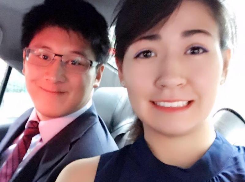 辜仲諒的長子Jeffrey和女友Jessica感情好,回台灣時也一同出雙入對。(翻攝自Jessica KS臉書)