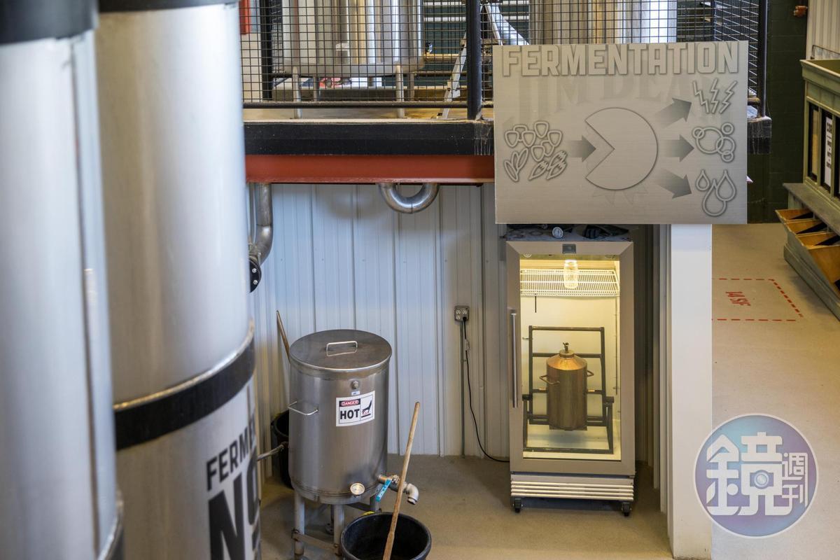 金賓風味關鍵就是在冰箱中自家培育的酵母。
