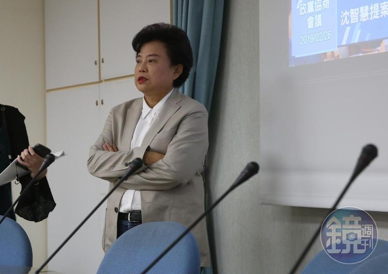 立委沈智慧昨(17)日下午到台中地檢署控告王義川,反駁支持一國兩制的指控。