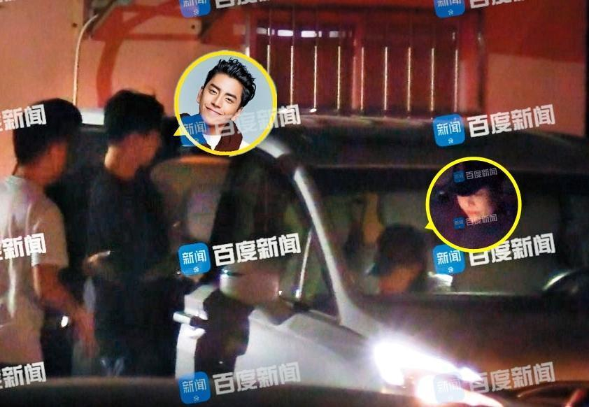 王大陸在跟Ivy交往期間,曾被對岸媒體捕捉到化妝師在他飯店待了一晚的行跡。(翻攝自百度娛樂微博)
