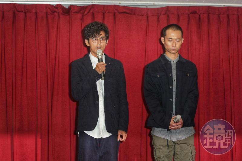 阿翔不倫戀謝忻,搭檔浩子陪同召開記者會向大眾道歉。
