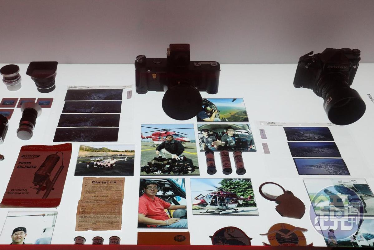 「齊柏林空間」展出他曾使用過的鏡頭及攝影器材。