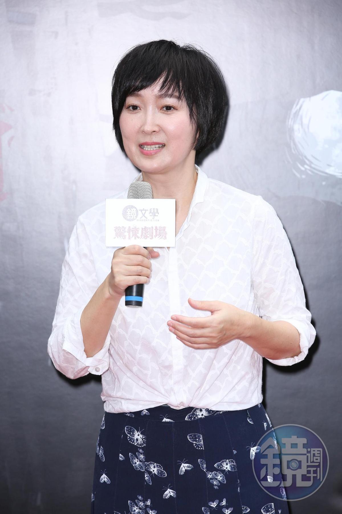 鏡文學總經理董成瑜開心宣布第二季「鏡文學劇場」計畫即將起跑。