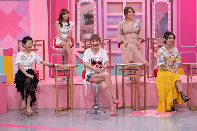 《女人我最大》邀請到朱海君來分享「老公的甜言蜜語」。(TVBS歡樂台)