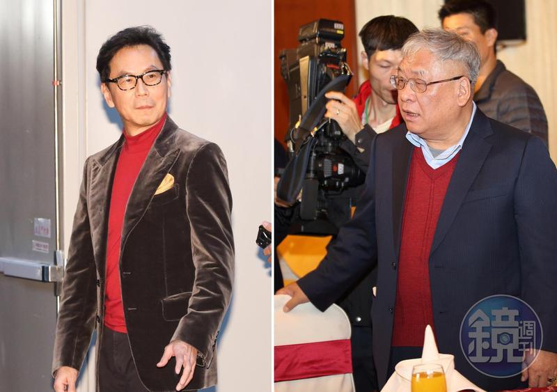 擁有凱擘、台固共160萬戶的富邦集團董事長蔡明忠(左),是不折不扣的有線電視霸主。;媒體大亨練台生(右)擁有年代、壹電視等頻道代理權,靠著靈活的生意手腕,在有線電視圈呼風喚雨。