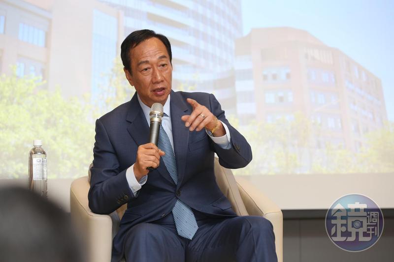 前鴻海董事長郭台銘在國民黨總統初選首場國政願景電視發表會上,自詡是「中華民國的最強外掛」。