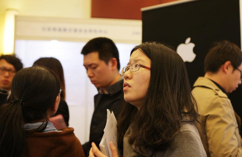 圖為2015年北京春季留學英才招聘會現場,當時有3000多名「海龜」参加。(東方IC)