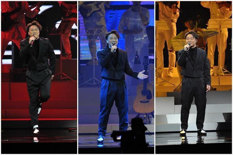 歌王陳奕迅擔綱第30屆金曲獎開場表演嘉賓,一連演唱多首歌曲,被網友推爆是最讚開場。(台視提供)