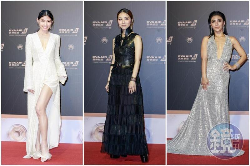 金曲30紅毯實在是歷年來最難選出最美的一屆,由左至右為李千那、鄧紫棋、艾怡良。