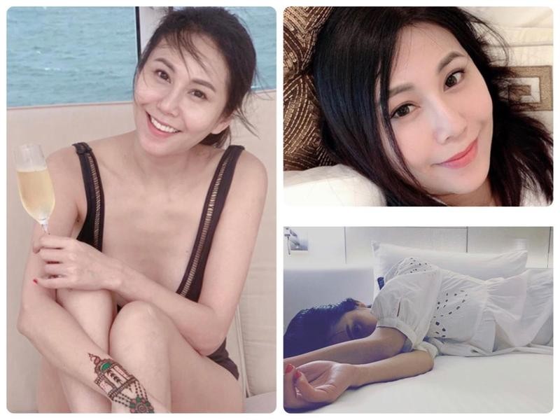 洪曉蕾近期多次po出性感泳裝照與慵懶床照。(翻攝自洪曉蕾IG)