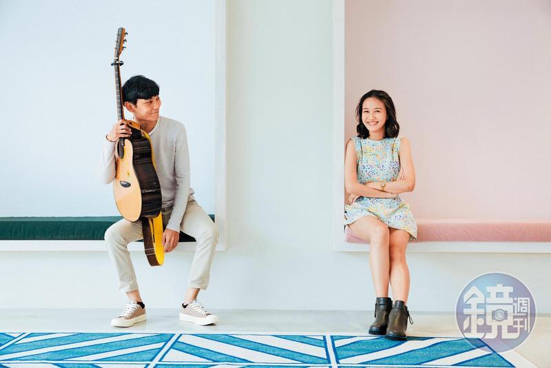 喬尹(右)和祐祐藉著iM短影上的精采表現,成功藉著粉絲的力量,入選《聲林之王》第二季。