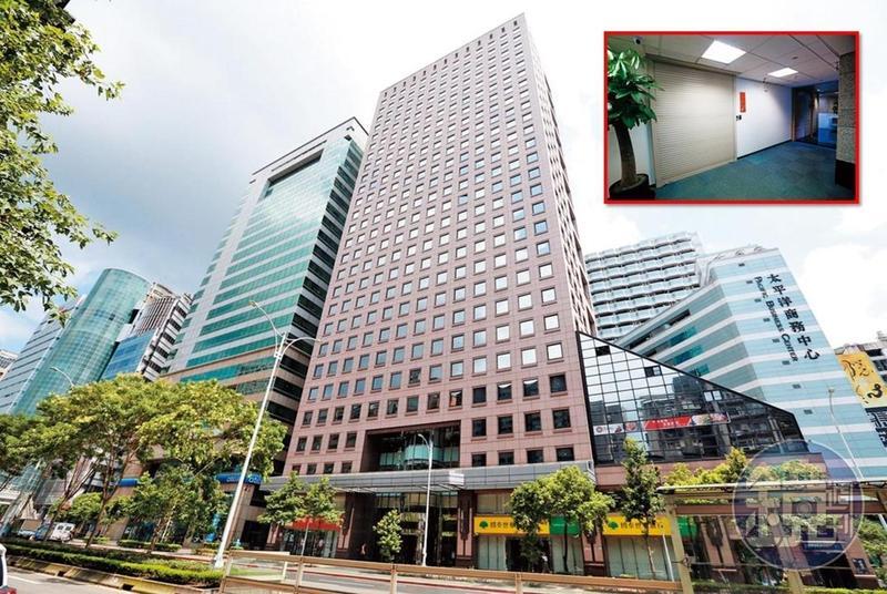 本刊上週實地走訪潤寅位於台北市信義區的總部,只見登記地址(紅框處)大門深鎖,公司招牌也全部拆掉。