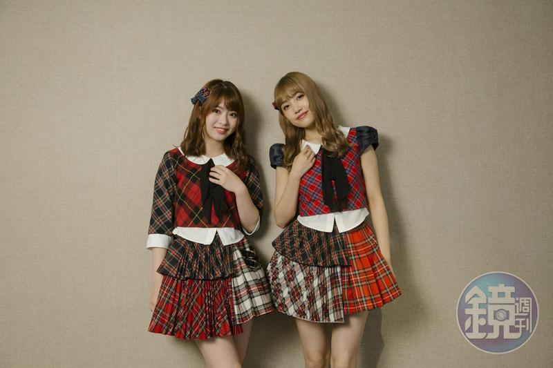 AKB48馬嘉伶與加藤玲奈接受本刊專訪。