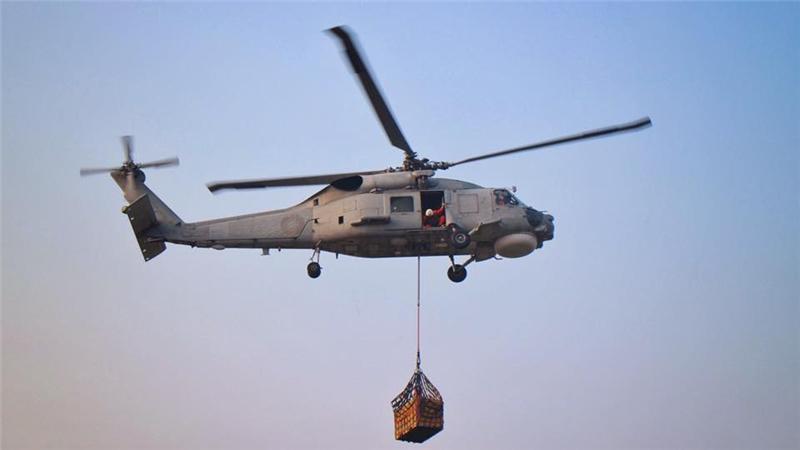林姓少校是海軍S-70C反潛直升機的飛官。(翻攝海軍官網)