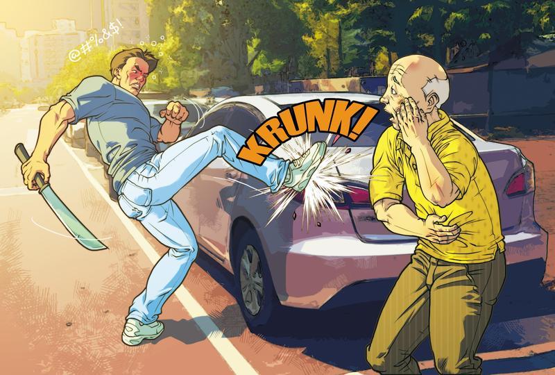 林姓少校與妻子發生口角,竟找岳父興師問罪,還傷人砸車。