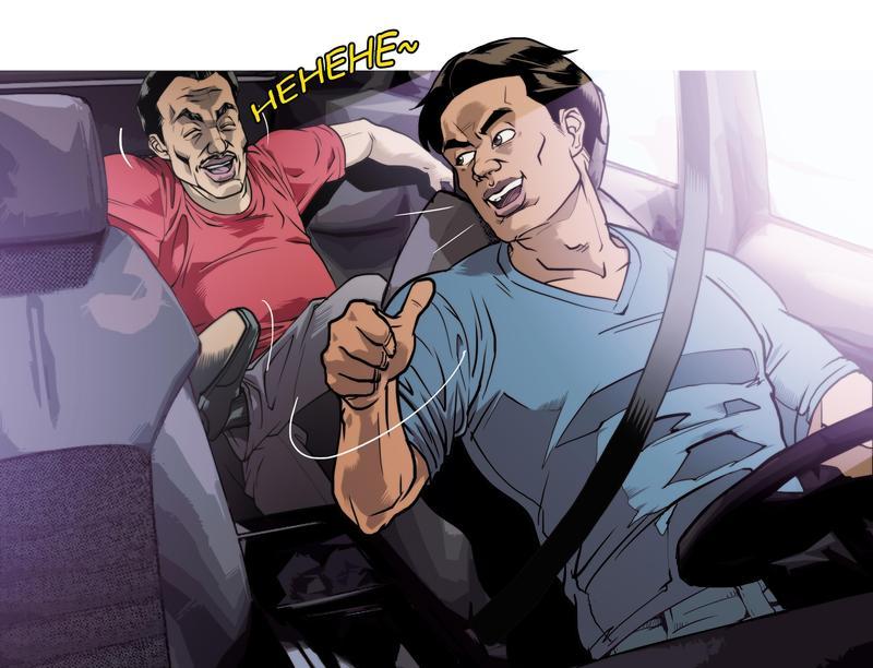 林姓少校(前)勤務期間擅離職守,跑去幫休假中的長官(後)當司機,載長官跑攤3天。