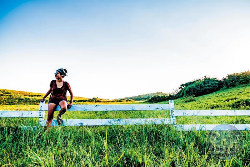 隱身龍磐公園內的「水蛙窟」, 白色柵欄與綠色草原 是遊客最愛的拍照美景。
