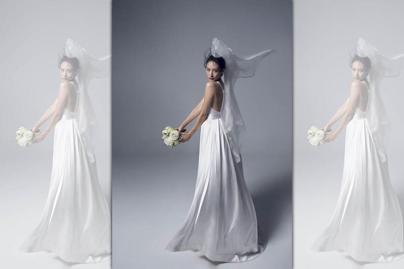 邱馨慧6月23日在台北君悅酒店舉辦婚禮,最近進棚拍攝正式婚紗照。(凱渥提供)