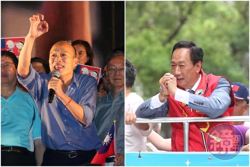 國民黨總統初選民調將在7月8日至14日展開,韓國瑜和郭台銘雙方卯足全力做最後衝刺。