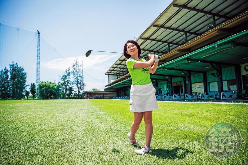 急性子的陳詩慧,學高爾夫球放慢步調,悟出投資急不得。