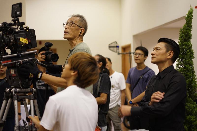 劉德華也是《掃毒2》的監製,這次來台宣傳,引起粉絲搶票暴動。(華映娛樂)
