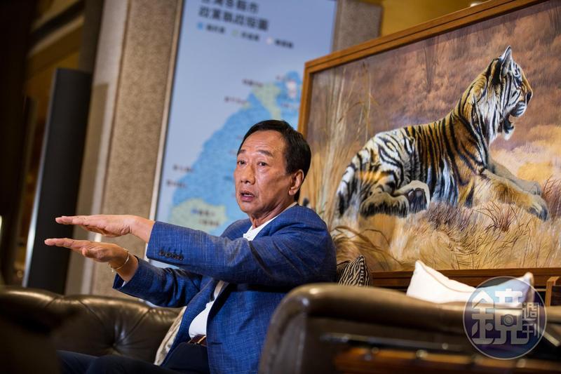 郭台銘談到當總統的最大目標,就是要帶領台灣轉型升級成為世界創新科技試驗島。