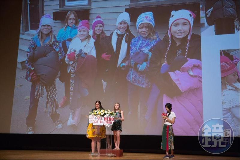來自加拿大的11歲小女孩嘉達.艾特金與媽媽塔拉今年應瑪利亞基金會邀請來台,擔任國際公益大使,分享她們的善心義舉。