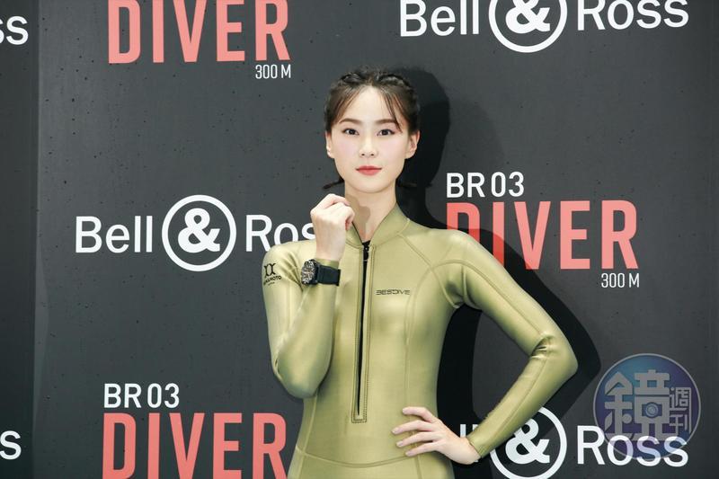 鍾瑶對於潛水婚禮頗感興趣。