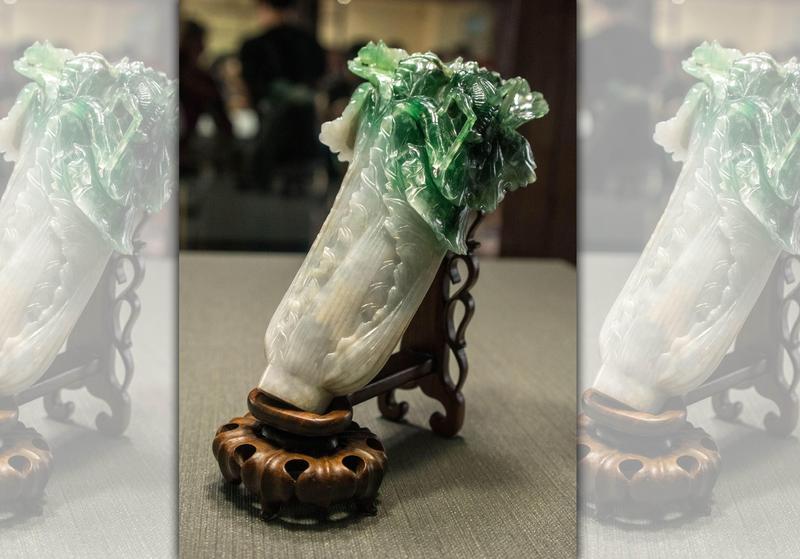 翠玉白菜為故宮三寶之一,是訪故宮的必看重點。(東方IC)