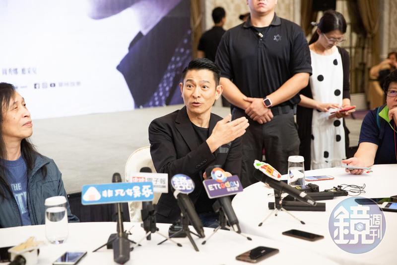 劉德華與導演邱禮濤為《掃毒2 天地對決》來台宣傳。