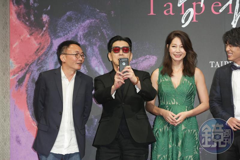 《幸福城市》入圍台北電影獎最佳導演何蔚庭(左起)、最佳男配角高捷、最佳女配角丁寧、以及最佳新演員謝章穎。
