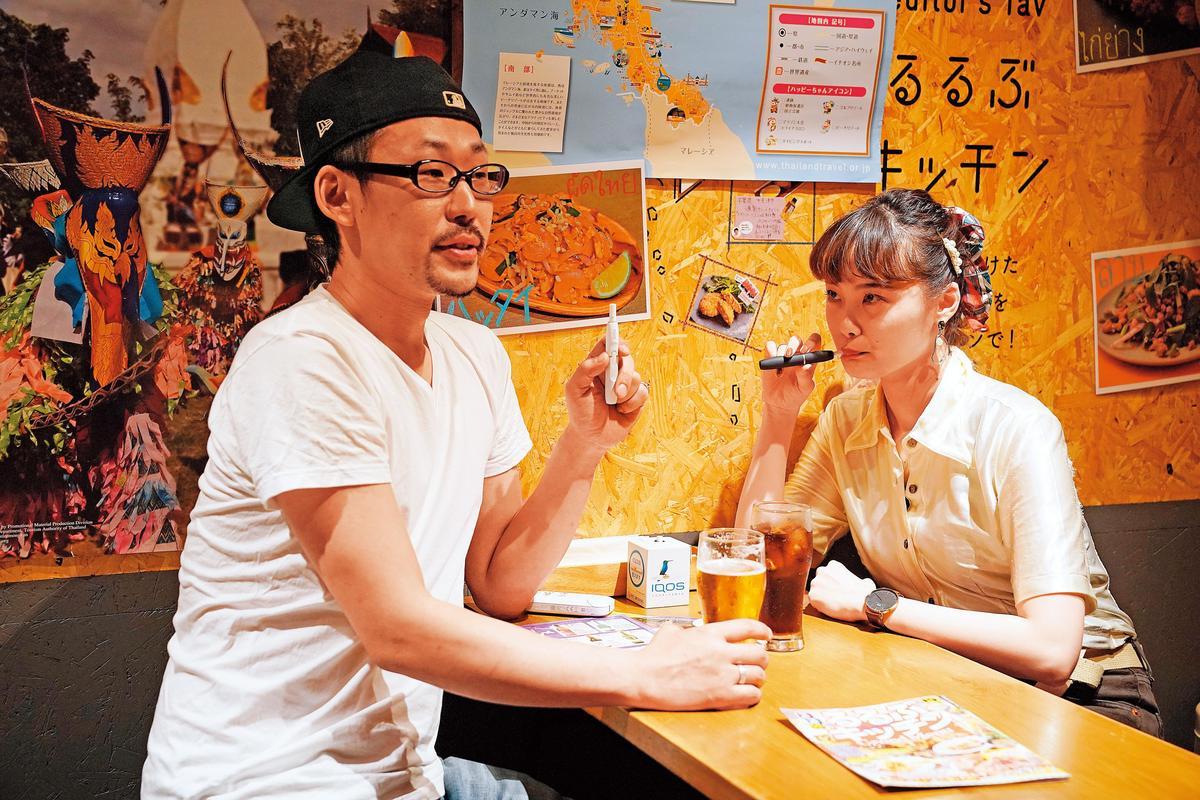 加熱菸在2014於日本合法開放,成為癮君子新寵。(東方IC)