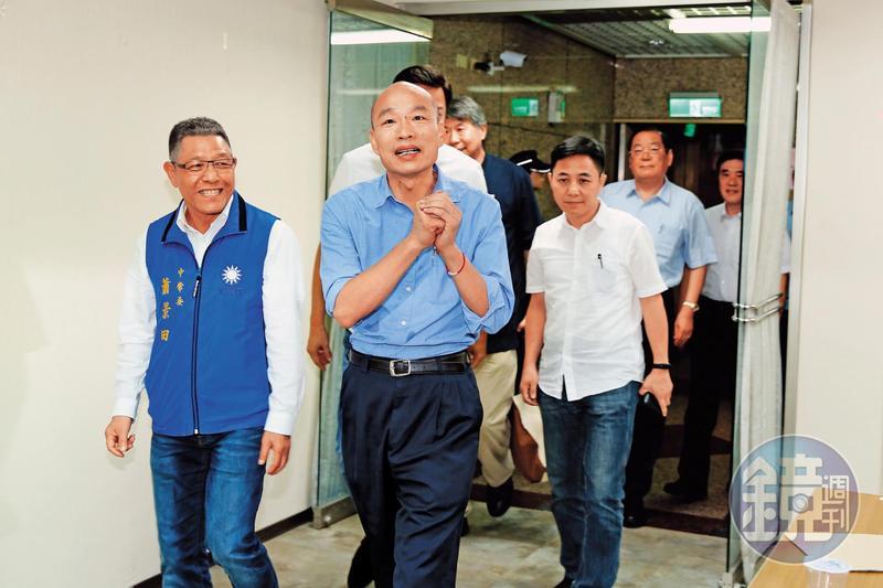 韓國瑜以壓倒性勝利通過初選後,並無太多喜悅之情,坦言挑戰才剛要開始。