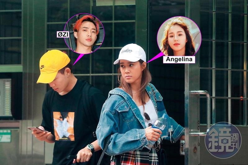 7月10日17:05,ØZI和女友Angelina戴著棒球帽走出台北市信義區住所等Uber,據悉這是他們的同居愛巢。