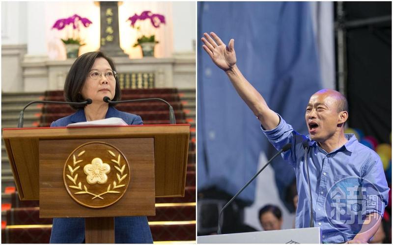 對於國民黨洪孟楷所指蔡英文(左)也是帶職參選,王丹傻眼po文痛批國民黨,「居然水平下降到這個程度,最基本的常識和智商都沒有了。」