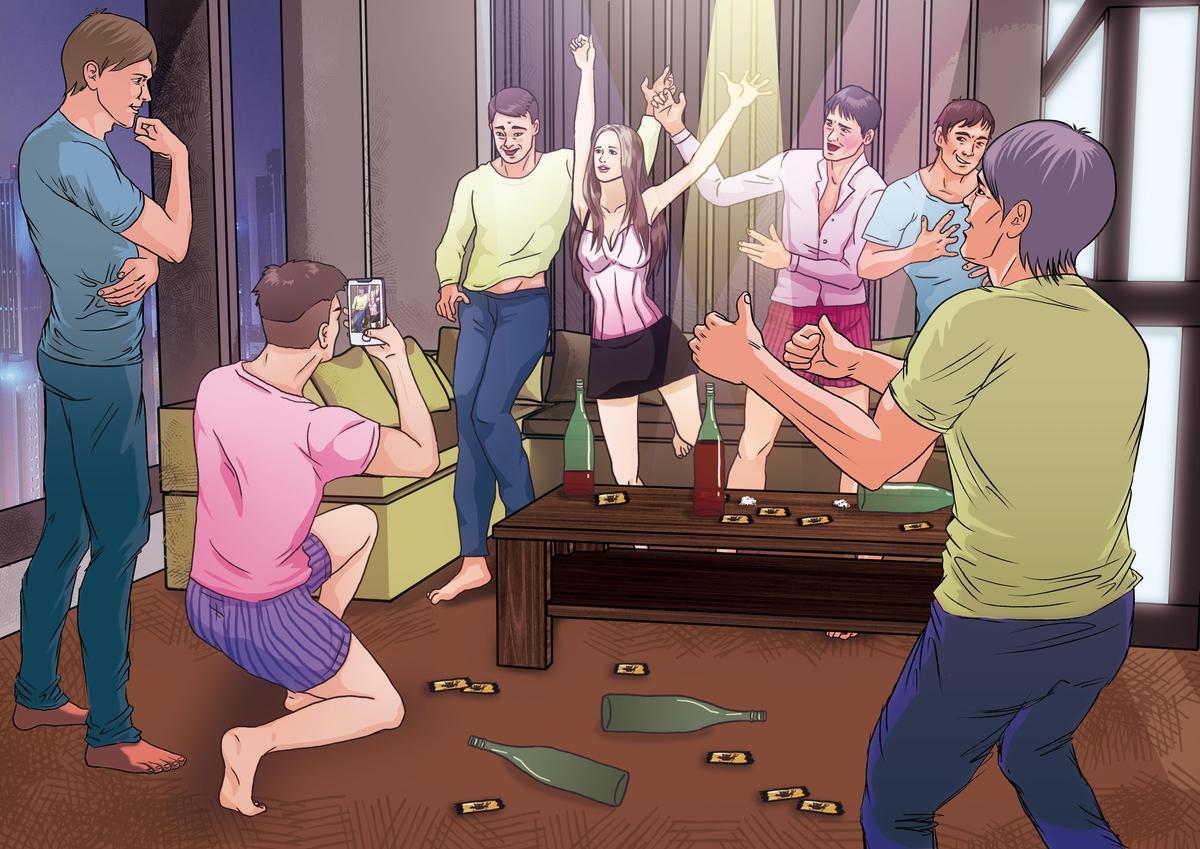 少女與6男在旅館內開吸毒轟趴狂歡。