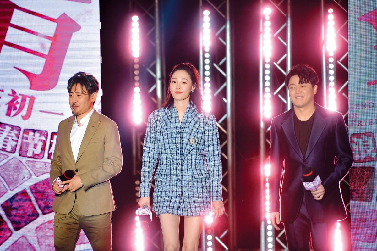 吳秀波(左)和白百何(右)合作的《情聖2》,至今無法上映。(東方IC)